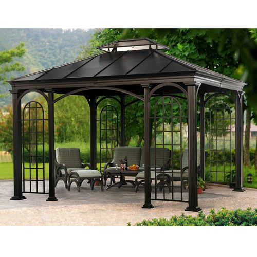 dCOR design Riverside 10 Ft. H x 10 Ft. W x 10 Ft. D Gazebo & Reviews | Wayfair