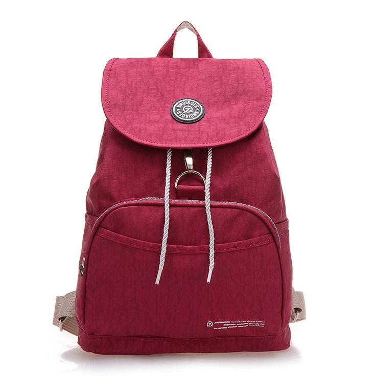 Preppy Style Women Backpack Waterproof Nylon Backpack 10 Colors Lady Women's Backpacks Female Casual Travel Bag Mochila Feminina