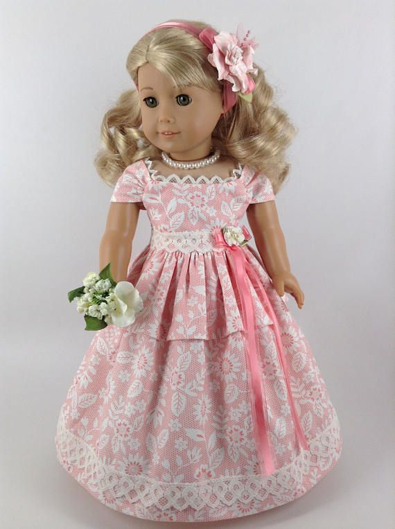 American Girl 18-inch Doll Clothes Ruffled Gown Petticoat