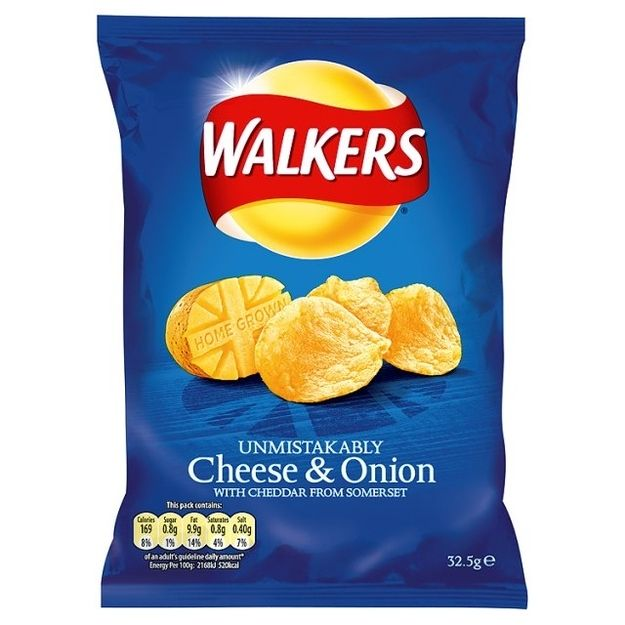 Walkers Cheese and Onion - the little black dress of the world. simply the best. Walkers crisps are a staple