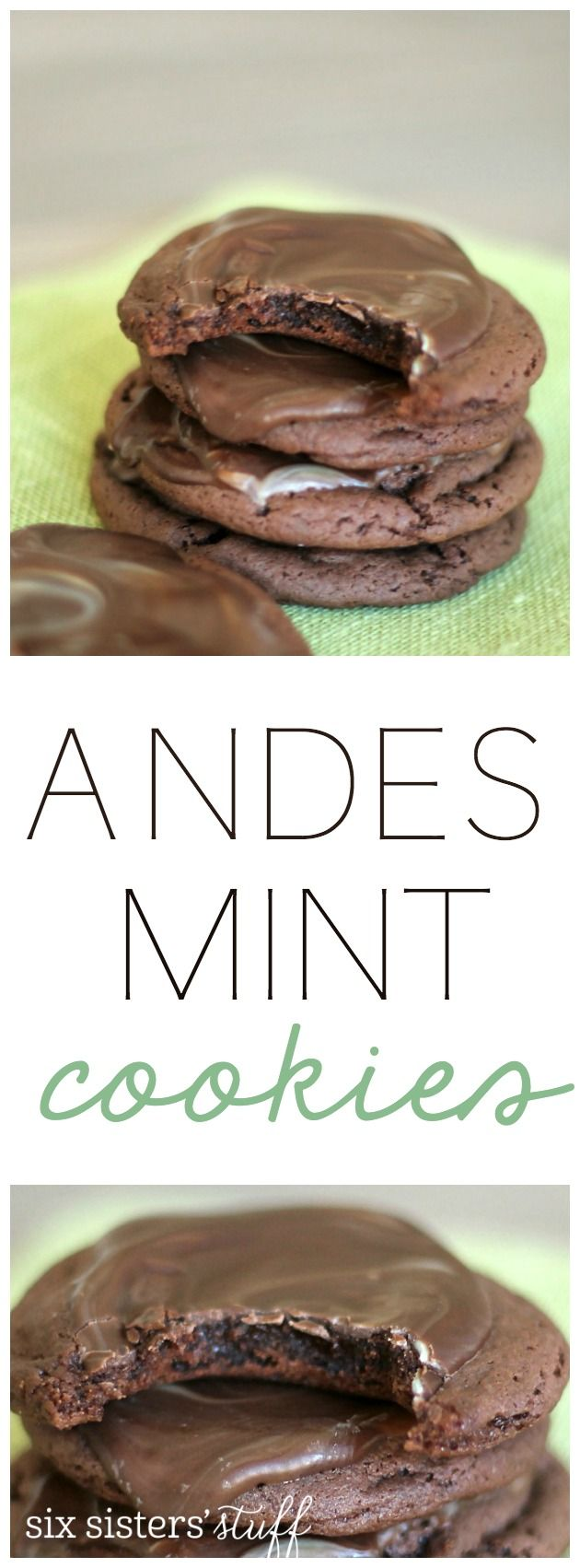 Andes Mint Cookies from SixSistersStuff.com. So easy to make and taste AMAZING!