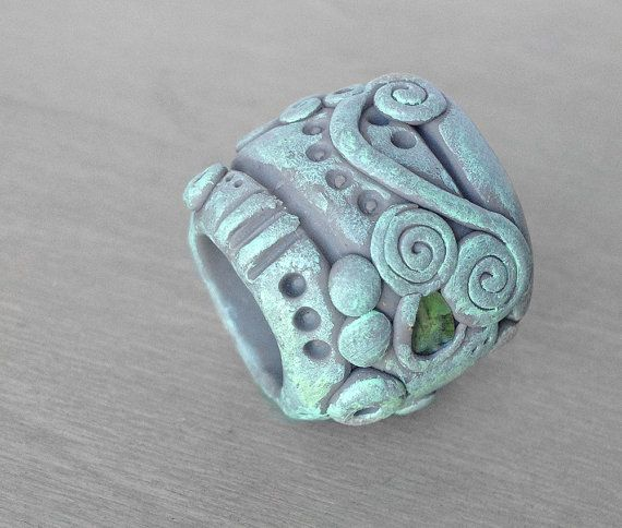 Sculpted Dreadlock Bead  Polymer Clay Dread Bead  by OneUrbanTribe, $25.00
