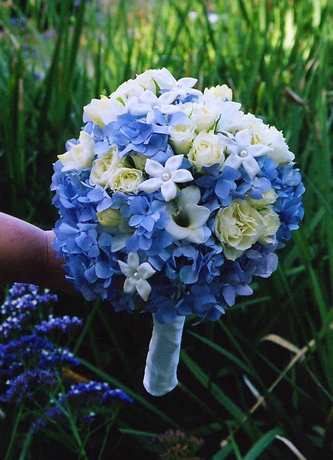 Wedding Bouquet Blue Hydrangea Best The Beautiful Blues Images On