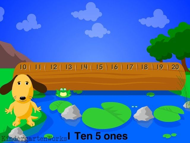 Online game to practice finding teens in tens and ones