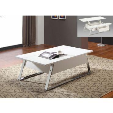 Table basse plateau relevable harrison blanc - pas cher ? C'est sur Conforama.fr - large choix, prix discount et des offres exclusives Table basse sur Conforama.fr