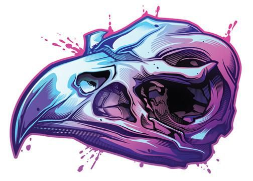 Eagle Skull Temporary Tattoo - Savage Skulls