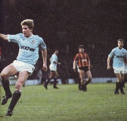 Man City 4 Bradford City 0 in Dec 1988 at Maine Road. Ian Brightwell puts Man City 1-0 up #Div2