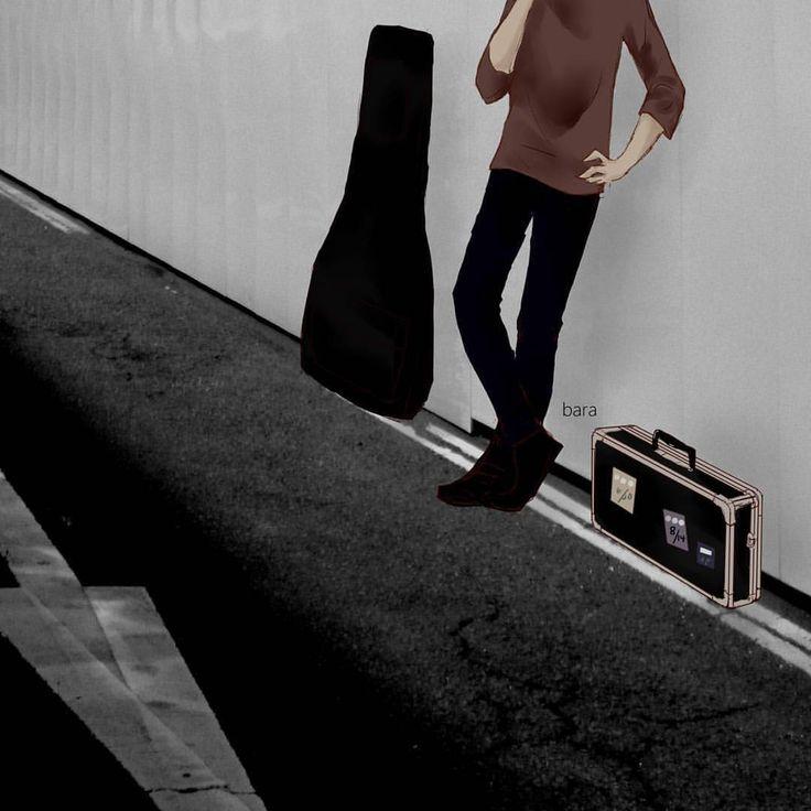 缶バッジ用です③ #canroll #イラスト #ギター #エフェクターケース #illust #art #digitalart #guitar