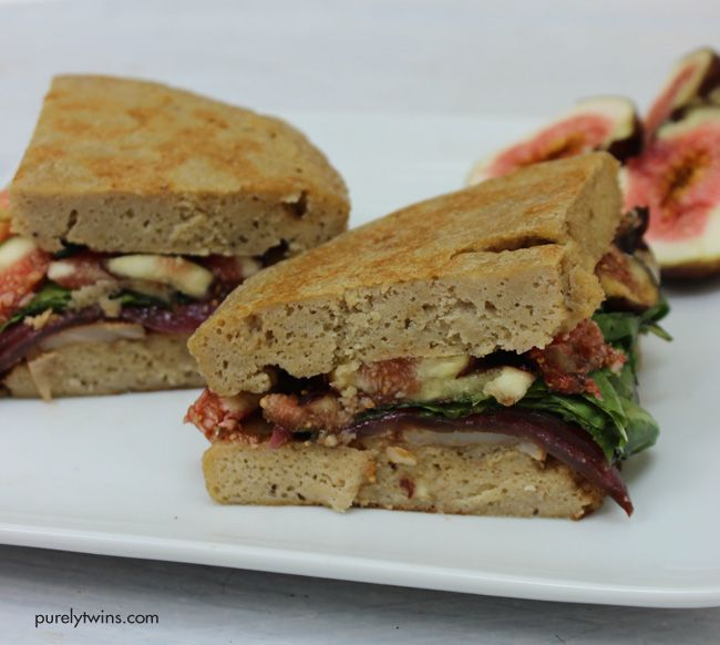 fig goat cheese basil balsamic onion sandwich for one (gluten and ...