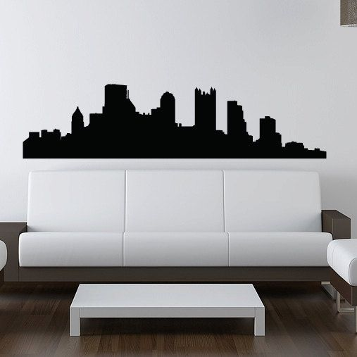 "Pittsburgh Skyline Wall Decal - Vinyl Sticker - 60"" - Pennsylvania. $50.00, via Etsy.  I WANT!!"
