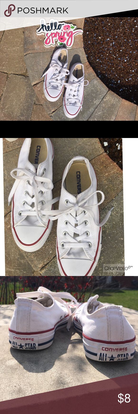 White Converse These are a must have for all of your Spring Outfits! (Men's 4; Ladies 6) Converse Shoes Sneakers