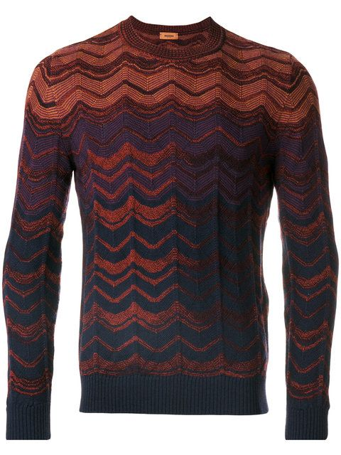 MISSONI zigzag striped jumper. #missoni #cloth #jumper