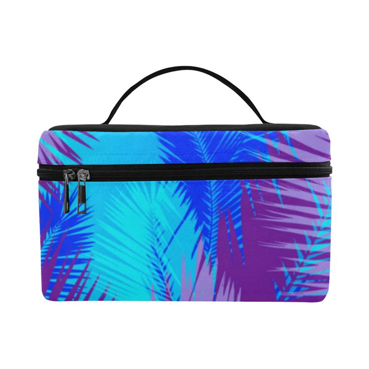Summer Island pop art design Cosmetic Bag/Large by Scar Design. #toiletrybag #toiletry #cosmeticbag #travelbag #travel #weekendtravelbag #family #onlineshopping #shopping #artsadd #gifts #scardesign #bag #style #fashion #giftsforhim #giftsforher #39 #design #modern #summer #palmleaf #toiletrytravelbag