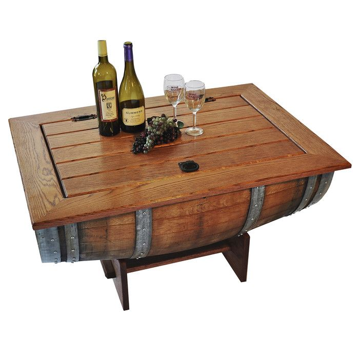 Napa East Collection Wine Barrel Coffee Table & Reviews | Wayfair