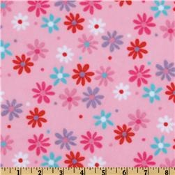 Minky Cuddle Retro Daisy Pink/Lavender for the back of the quilt?