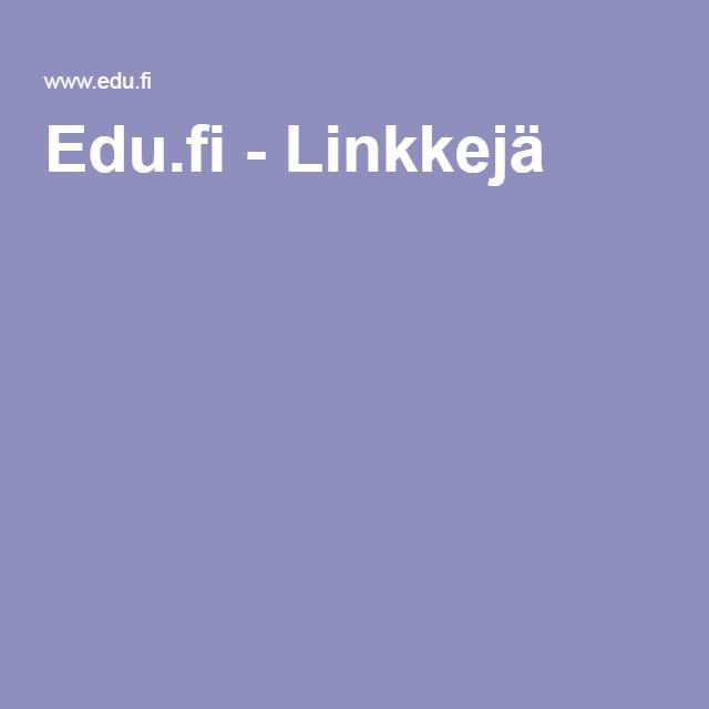 Edu.fi - Linkkejä
