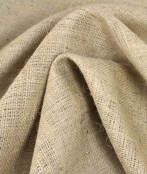 Natural Burlap Fabric, would make great curtains and the price is reasonable on this website.