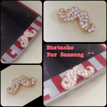 Jewelry Moustache Home Button for Samsung