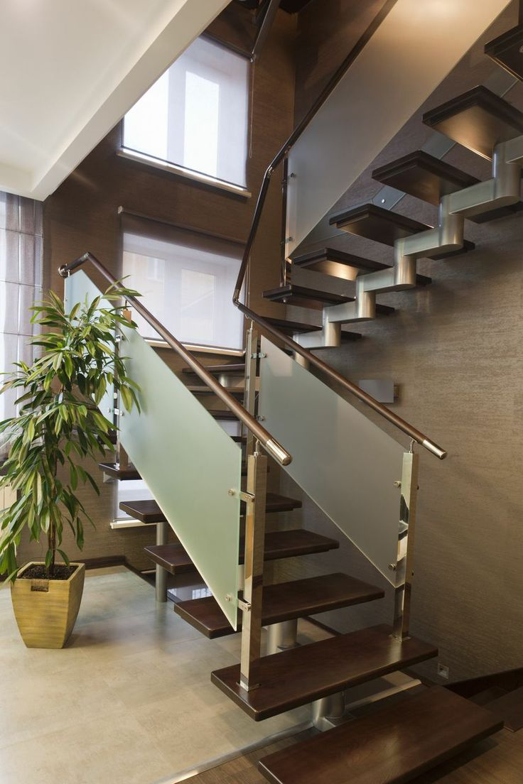 500 Spectacular Staircase Ideas for 2017. Glass StairsGlass RailingCondo ...
