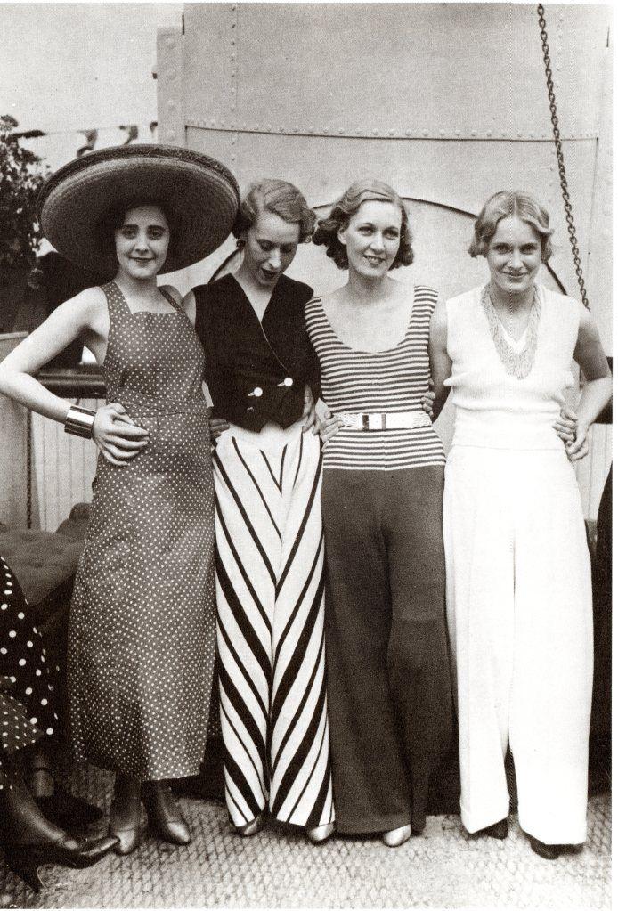 .: Wide Legs Pants, Vintage Fashion, Chevron Pants, 1930S Fashion, Outfit, London Style, 1930 S, Vintage Beautiful, Wide Legs Trousers