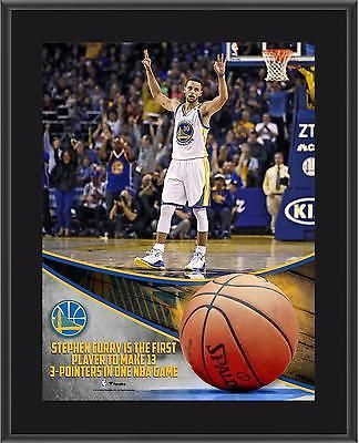Stephen Curry NBA Golden State Warriors 10.5x13 NBA Record 13 3-Pointers Plaque