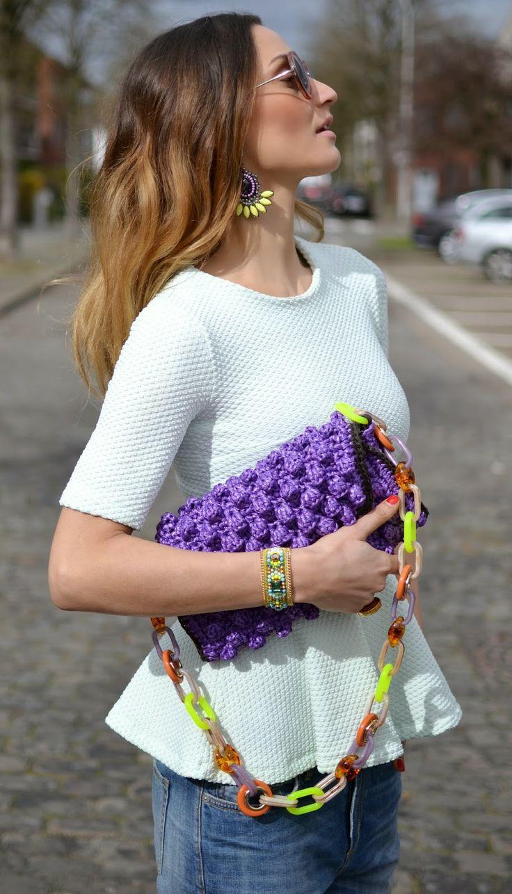 #MMissoni   Purple Raffia effect bag   Summer 2014 Collection   Lima's Wardrobe: Mint Peplum