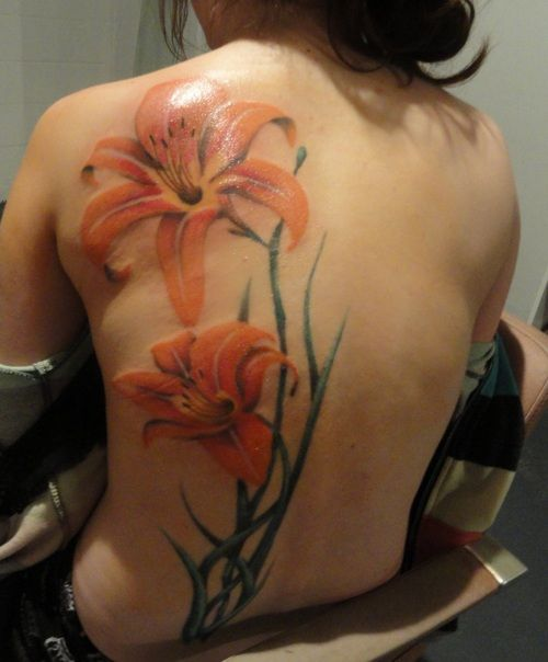 Full color tiger lily tattoo tattoos pinterest for Tiger lilly tattoos