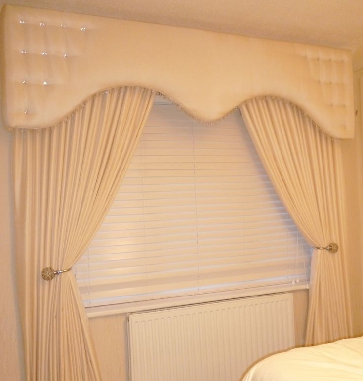 Kitchen Curtain Pelmets: Pelmet And Curtains Cream Shaped Style. Www