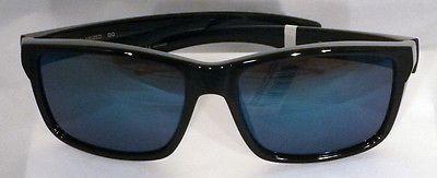 Suncloud Mayor Sunglasses - Black w/ Blue  Polar - Free Hard Case  Free Ship