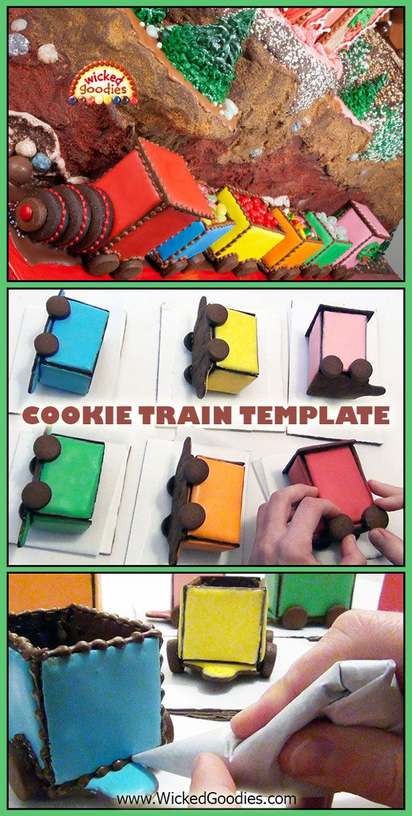 Gingerbread Cookie Choo Choo Train Free Printable Template