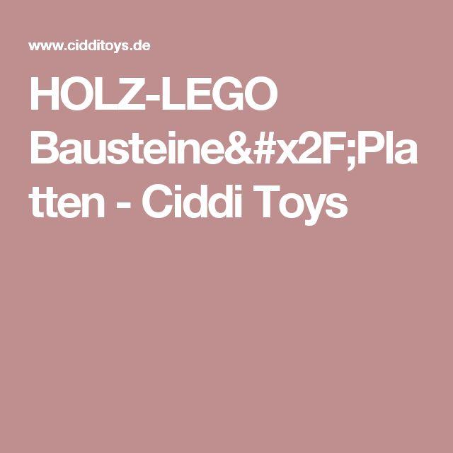 HOLZ-LEGO Bausteine/Platten - Ciddi Toys