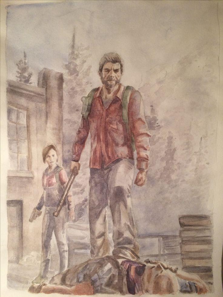 The last of us watercolor sketch