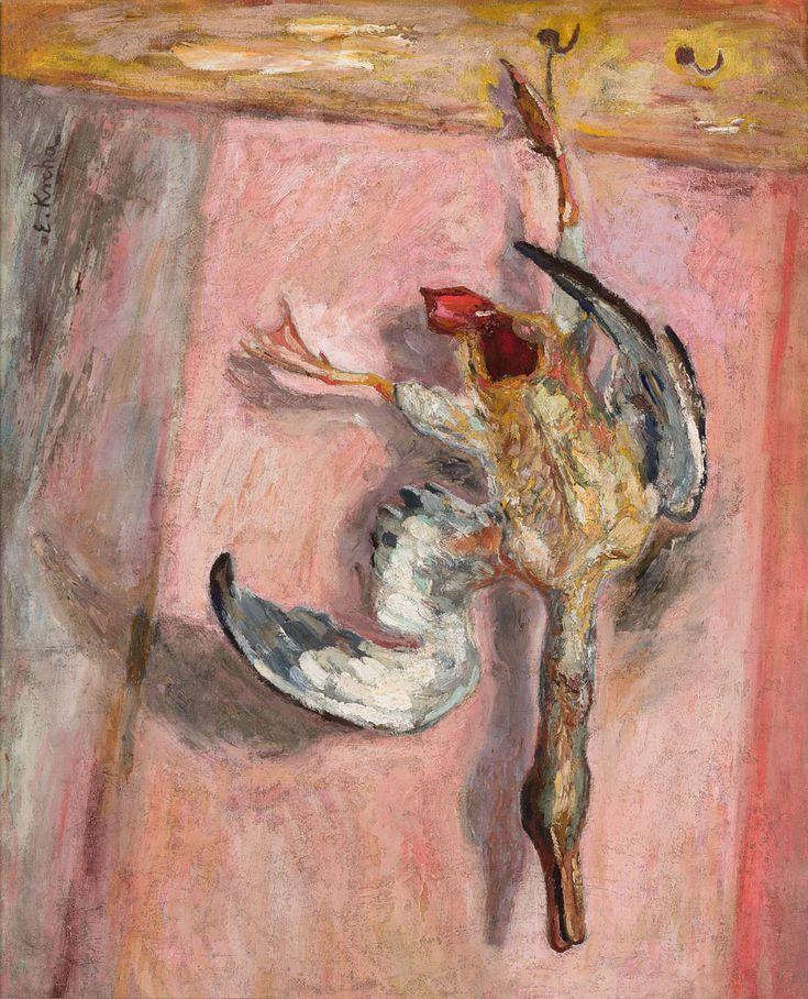 Emil Krcha, Martwa natura z kaczką, 1932 #birds #ptaki #kolekcjaMNK #MNKcollection #kolekcja