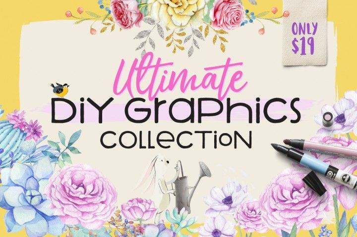 """My """"Animal Fun Collection"""" has been included in the """"Ultimate DIY Graphics Collection Bundle"""" at The Hungry JPEG!    Check it out here! https://thehungryjpeg.com/bundle/74828-the-ultimate-diy-graphics-collection/   #bundle #graphics #save #bundle #thehungryjpeg #Illustration #studiojulieann #graphicsbundle #diygraphics #clipart #elements #patterns"""