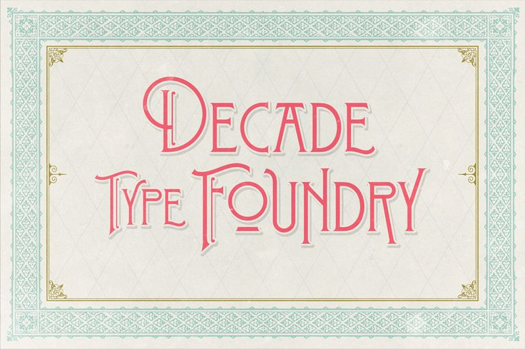 Stanwood Font by Decade Type Foundry on Creative Market