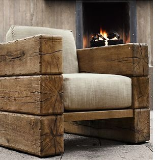 Railway sleeper arm chair. Home-Dzine - Decorating a home in modern rustic style LOVE this chair! (scheduled via http://www.tailwindapp.com?utm_source=pinterest&utm_medium=twpin&utm_content=post532515&utm_campaign=scheduler_attribution)