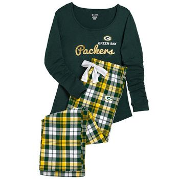 Green Bay Packers Women's Reign Flannel Pajama Set at the Packers Pro Shop http://www.packersproshop.com/sku/5801026239/