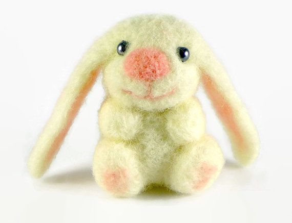 Easter Bunny, Needle Felted Bunny in a Gift Box, Miniature Animal, Easter Decorations