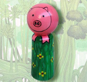 "Fingerpuppet ""Little Pig""    http://fiaba.de/fingerpuppe-rampenferkel/"