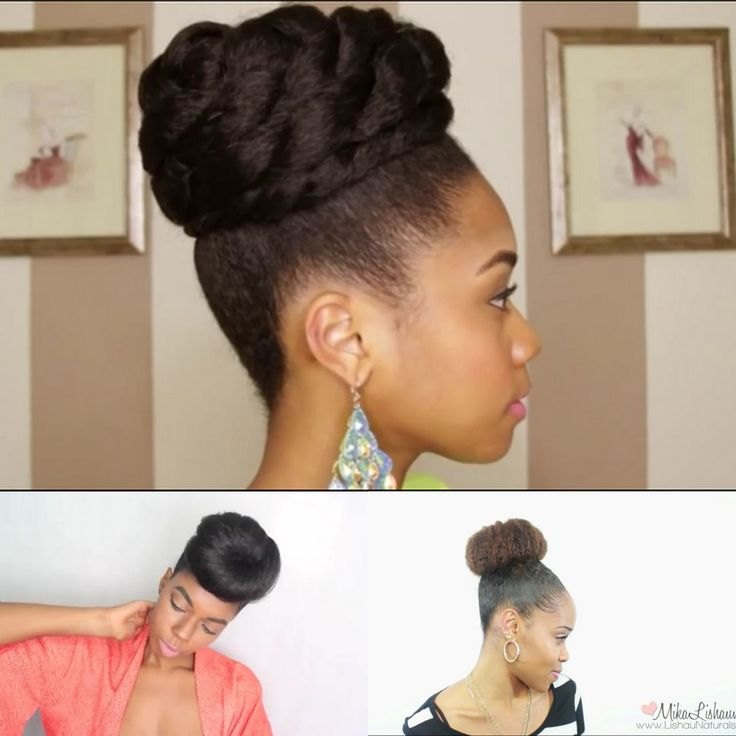 4 Simple Faux Bun Styles For Any Natural Hair Length