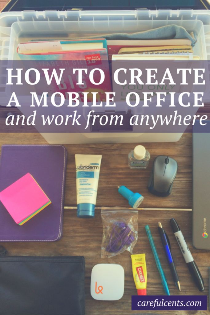 Creating a Portable Office: How to Work From Anywhere (plus, a free checklist!). #careers
