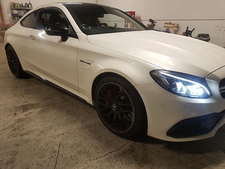 Last week we had this beast in! A 6 month old Mercedes C63S AMG for decat downpipes. The only real way to do it is to drop the gearbox due to the routing and shape of the original pipes. Afterwards it sounded like a monster and the customer was excited to take it away and let loose.  If you have any queries regarding tuning then feel free to give us a call on 07766317092 or pop in for a chat. #gt4sussex #chichester #mercedesc63samg #decatdownpipe #carsofinstagram #mechanic #funtington…