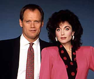 "Det. Sgt. Rick Hunter (Fred Dryer) Det. Sgt. Dee Dee McCall (Stephanie Kramer)  Hunter was a 60 minute crime drama series on NBC about a male and a female police detective who worked together investigating robberies, rapes, cons, and murders on the streets of Los Angeles, California.   Hunter's catch phrase was ""Works for me.""  Dryer, former football defensive end, played 13 years in the NFL, playing 176 games, starting 166, and recording 104 career sacks with the NY Giants and LA Rams."