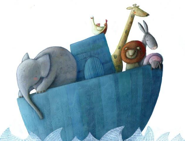 El arca de Noé. By Martina Peluso.  http://martinapelusoillustratrice.blogspot.com/