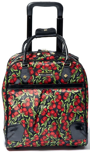 Perfect funky bag for your work stuff and laptop/iPad from Betsey Johnson. This wheeled laptop briefcase is fresh and chic.