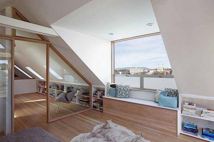 Mork Ulnes, Clayton Street, San Francisco, Attic Bedroom with View | Remodelista