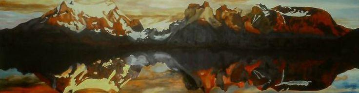Torres del Paine 2008 - 2010 33 cm x 1,27 cm Oil on Wood ( Óleo sobre Madera) www.artsaigg.com