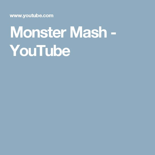 Monster Mash - YouTube