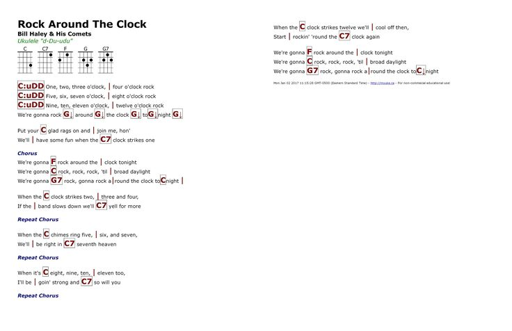 Rock Around The Clock (Bill Haley & His COmets) - http://myuke.ca