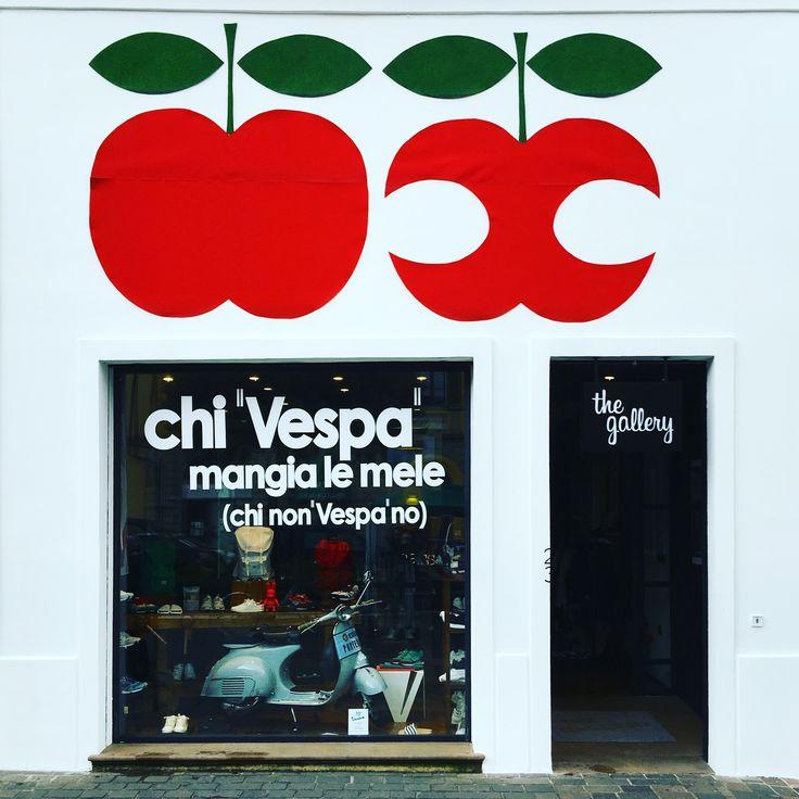 """""""Vespa Anniversary"""" window @ The Gallery concept store"""
